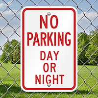 No Parking Day Night Signs