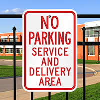No Parking Service Delivery Area Signs