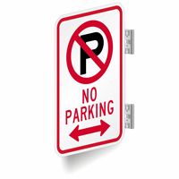 No Parking Signs (with Bidirectional Arrow)