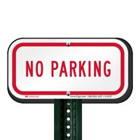 Reflective Aluminum No Parking Signs, Small