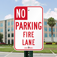 NO Parking Signs - Designated Fire Lane Area