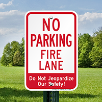 No Parking Fire Lane Signs