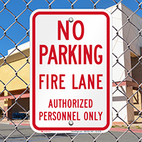 No Parking, Fire Lane Signs