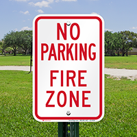 No Parking, Fire Zone Signs