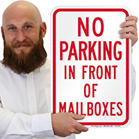 No Parking In Front Of Mailboxes Signs
