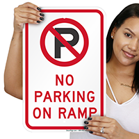 No Parking On Ramp Signs (With Graphic)