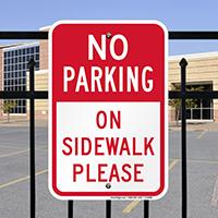 No Parking - On Sidewalk Signs