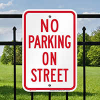 No Parking On Street Signs