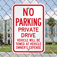 No Parking - Private Drive Signs
