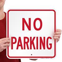 Square No Parking Sign