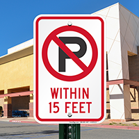 No Parking Within 15 Feet Signs