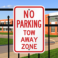 NO PARKING TOW AWAY ZONE Signs
