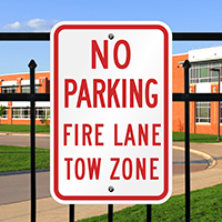 No Parking Fire Lane Tow Signs