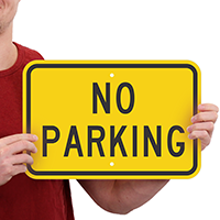 Aluminum NO PARKING Signs