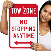 No Stopping Anytime Tow Zone Signs