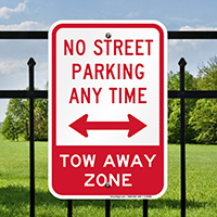 No Street Parking Anytime Signs