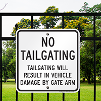 No Tailgating Sign