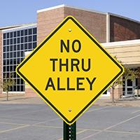 No Thru Alley Signs