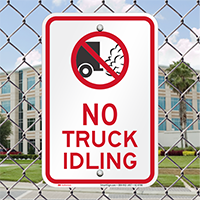 No Truck Idling On Driveway Signs