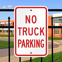 NO TRUCK PARKING Aluminum No Parking Signs