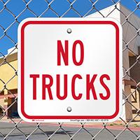 No Trucks On Driveway Signs