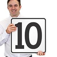 Parking Spot Number 10 Signs