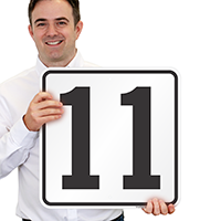 Parking Spot Number 11 Signs
