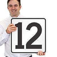 Parking Spot Number 12 Signs