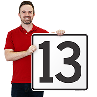 Parking Spot Number 13 Signs