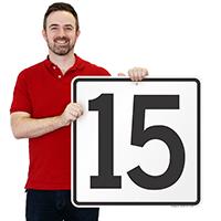 Parking Spot Number 15 Signs