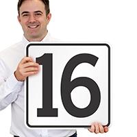 Parking Spot Number 16 Signs