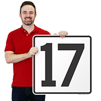 Parking Spot Number 17 Signs
