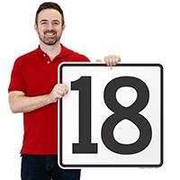 Parking Spot Number 18 Signs