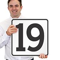 Parking Spot Number 19 Signs