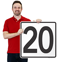 Parking Spot Number 20 Signs