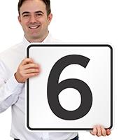 Parking Spot Number 6 Signs