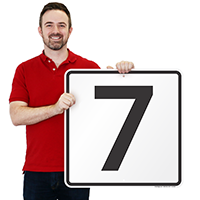 Parking Spot Number 7 Signs