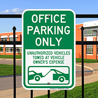 Office Parking Only Signs