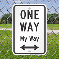 One Way Signs (with Bidirectional Arrow)