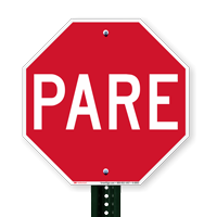 Spanish Stop Signs
