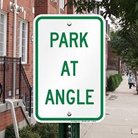 PARK AT ANGLE Signs