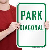 PARK DIAGONAL Signs