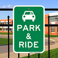 Park and Ride Signs with Graphic