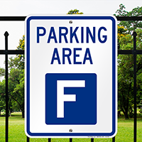PARKING AREA F Signs