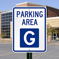 PARKING AREA G Signs