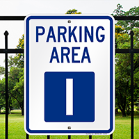 PARKING AREA I Signs