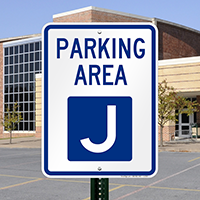 PARKING AREA J Signs