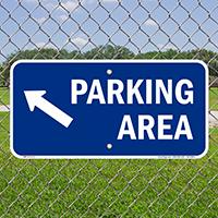 Parking Area Up Left Arrow Symbol Sign