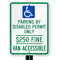 Florida Disabled Permit Parking, Van Accessible Signs