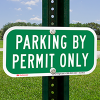 Parking By Permit Only, Supplemental Parking Signs
